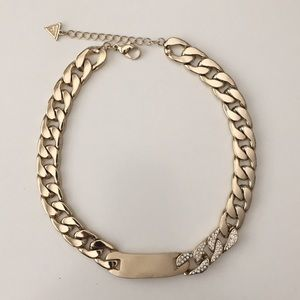 Guess chunky chain choker in gold